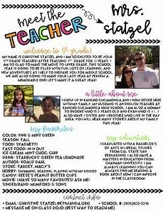 Meet The Teacher Newsletter Templates Editable Meet The Teacher Newsletter Template By Christine