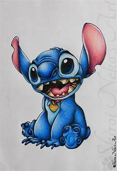lilo and stitch drawing stitch by shiroinekosart on
