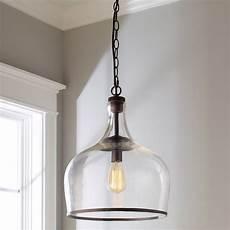 Large Glass Pendant Light Fixtures Reproduction Glass Cloche Pendant Shades Of Light