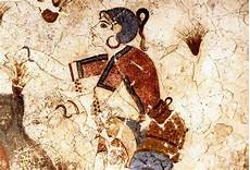 the saffron gatherer fresco from santorini greece