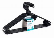 clothes hanger 10 beldray plastic clothes hangers pack of 10 black beldray