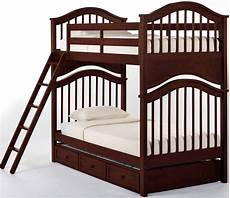 school house cherry bunk bed with
