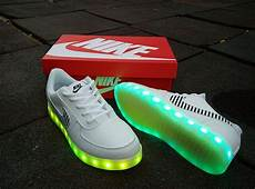 Nike With Light Shoes Led Light Up Nike Air Force One Lighting Soles White