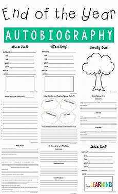 Autobiography Writing Template Autobiography Of A Fifth Grader A Memory Book Project