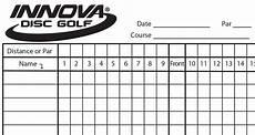 Golf Scorecard Template Innova Scorecard Innova Disc Golf