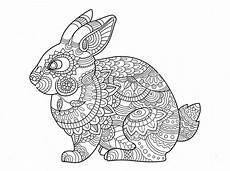 Malvorlage Hase Mandala Rabbit Zentangle Coloring Page Mandala Coloring Pages