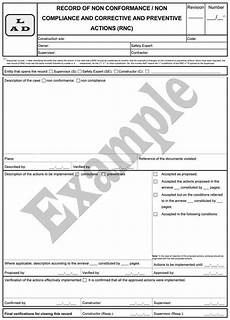 Non Compliance Report Sample Elcosh Inspecting Occupational Safety And Health In The