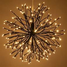 Twinklers Lights Brown Starburst Lighted Branches With Warm White Led
