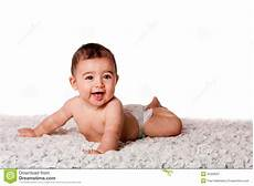 Baby Free Images Happy Baby Laying On Belly Royalty Free Stock Photography