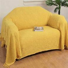 ochre yellow cotton nirvana large throws for sofas