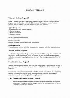 Example Of Written Proposal Business Proposals