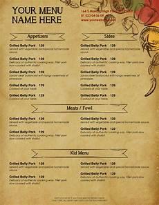 Free Restaurant Menu Templates For Microsoft Word Design Amp Templates Menu Templates Wedding Menu Food
