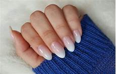 form negle ombre on almond nail shape ombre acrylic nails