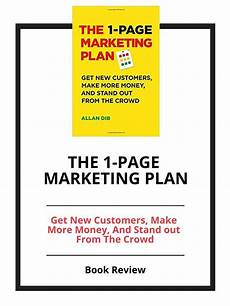 1 Page Marketing Plan The 1 Page Marketing Plan Review Seomalkamdior