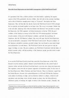Causes Of The Great Depression Essay Causes Of The Great Depression 1929 Essay