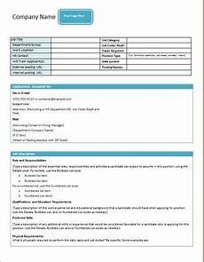 Form Description Job Description Form Templates Word Excel Templates