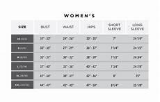 Size Chart Greg Norman Collection