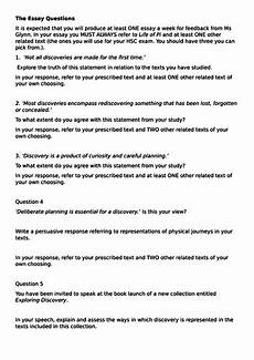 Essay Question Examples Example Discovery Essay Questions Hsc Standard English