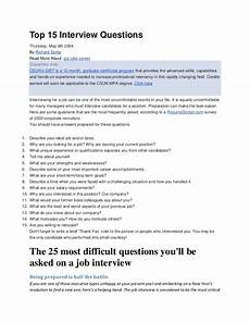 Post Interview Questions Top Interview Questions
