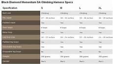 Women S Climbing Harness Size Chart Black Diamond Momentum Mens Rock Climbing Harness Harness