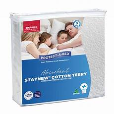 absorbent cotton terry staynew fitted waterproof mattress