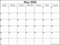 Blank May Calendar 2020 May 2020 Blank Calendar Collection