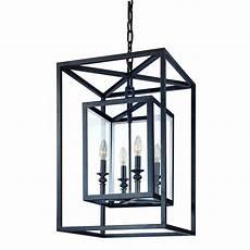 Contemporary Lantern Lighting Troy Lighting Morgan 4 Light Medium Foyer Pendant