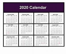 2020 Blank Calendar Pdf Free Blank Printable Calendar 2020 Template In Pdf Excel