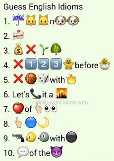 Sentences With Emoji Icons Whatsapp Puzzles Guess The English Idioms And Phrases