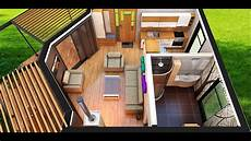 tiny house interior 50m2 accommodation