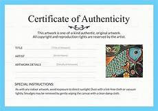 Make A Certificate Of Authenticity Artwork Authenticity Certificate Design Template In Psd Word