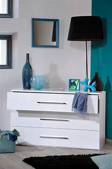 3 drawer white gloss chest of drawers fads