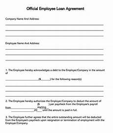 Company Loan To Employee Agreement 38 Free Loan Agreement Templates Amp Forms Word Pdf