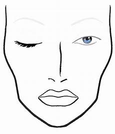 Brown Face Chart Blank Face Chart Lovers The Makeup School