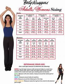 Body Size Chart Body Wrappers Size Chart