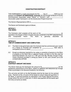 Construction Contract Free Download 8 Construction Forms Bid Form Agreement Form Release