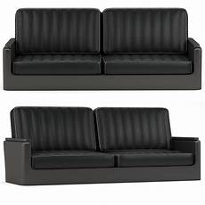 Sofa Cover 3 Seater Leather 3d Image by Black Leather Sofa Seat 3d Cgtrader