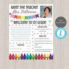 Meet The Teacher Newsletter Templates Editable Meet The Teacher Template Welcome Back To School