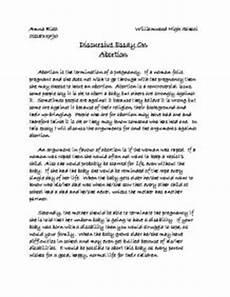 Persuasive Essay For Abortion Discursive Essay On Abortion Gcse Religious Studies