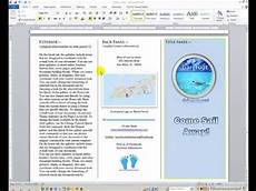 Make A Brochure On Word Word How To Create And Design A Brochure Youtube