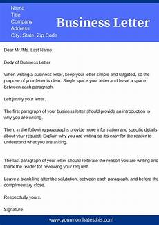 Letter To Business Format Business Letter Format Download Samples Of Business