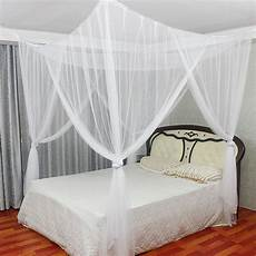 white 4 corner post bed canopy mosquito net