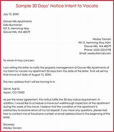 30 Day Notice To Move Out Letter How To Write A 30 Day Notice To Vacate 14 Free Templates