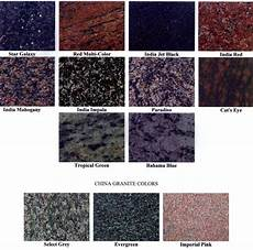 Granite Color Chart Granite Lasting Tributes Monuments