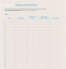Home Inventory Insurance Free 8 Home Inventory Templates In Pdf