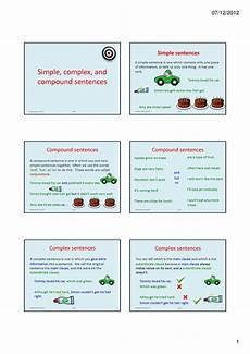 Simple Compound Complex Sentences Simple Compound And Complex Sentences Sentence
