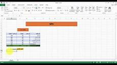 Rutgers Gpa Calculator Excel How To Create Gpa Calculator Using Excel كيفية انشاء