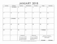Vertex42 Calendar Download The 2018 Ink Saver Calendar From Vertex42 Com