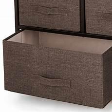 fabric 5 drawer dresser and storage organizer unit for
