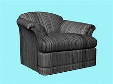 Black Sofa Chair 3d Image by Striped Sofa Chair 3d Model 3d Studio 3ds Max Files